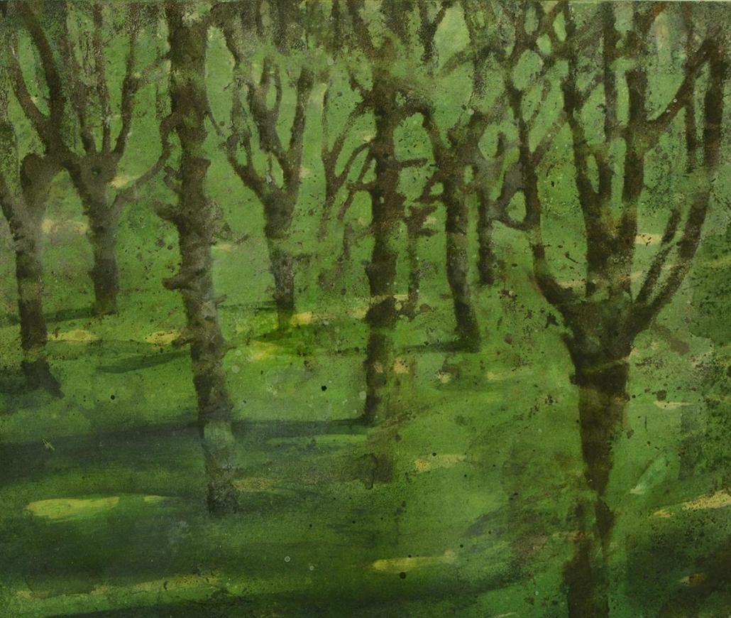 Katarina Axelsson - Stammar 2 - 42 x 50 cm - Acrylique sur bois