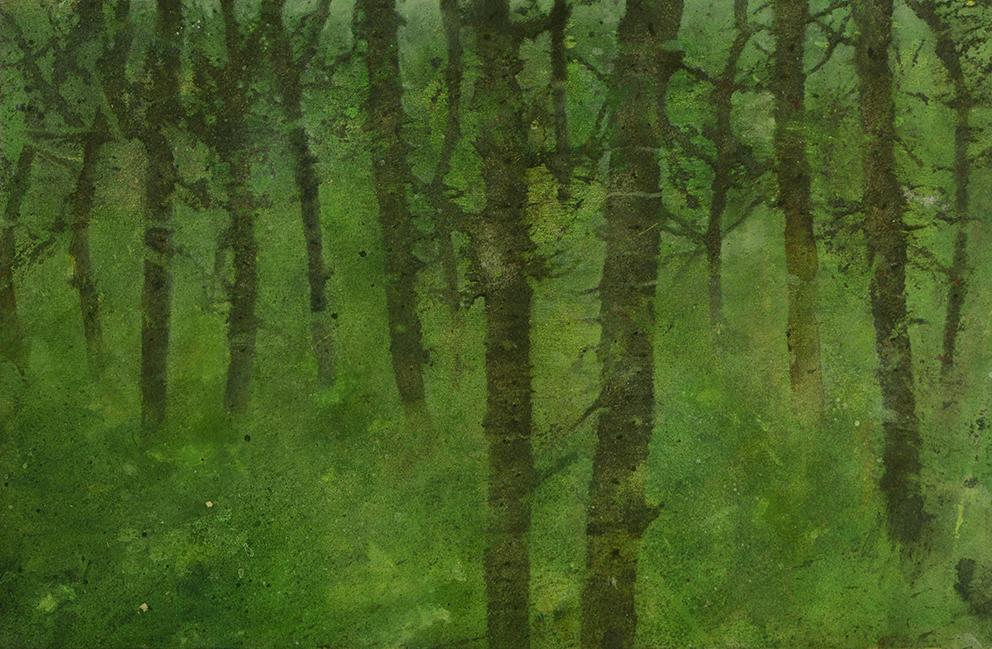 Katarina Axelsson - Stammar 3- 39 x 50 cm - Acrylique sur bois