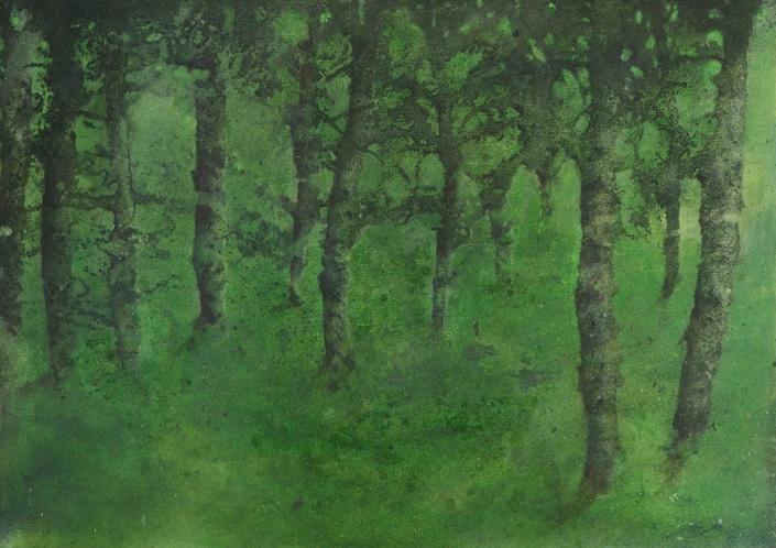 Katarina Axelsson - Stammar 4 - 39 x 50 cm - Acrylique sur bois