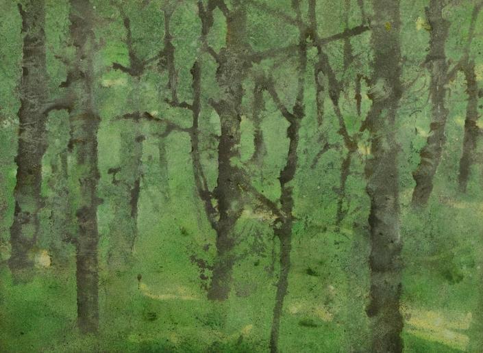 Katarina Axelsson - Stammar 5 - 42 x 50 cm - Acrylique sur bois