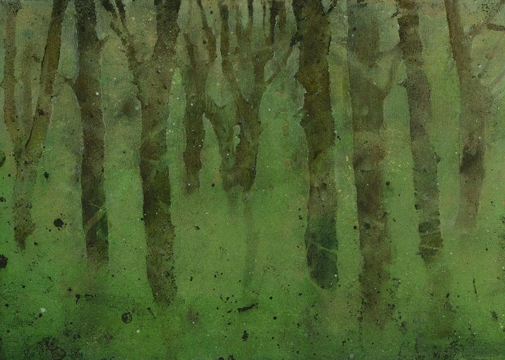 Katarina Axelsson - Stammar 6 - 39 x 50 cm - Acrylique sur bois