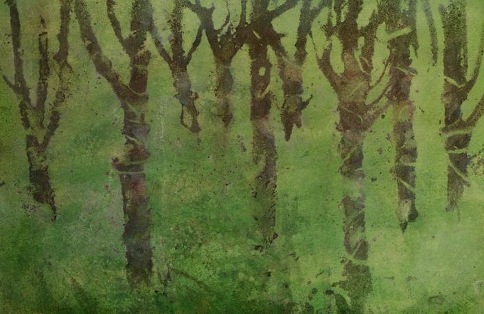 Katarina Axelsson - Stammar 8 - 39 x 50 cm - Acrylique sur bois