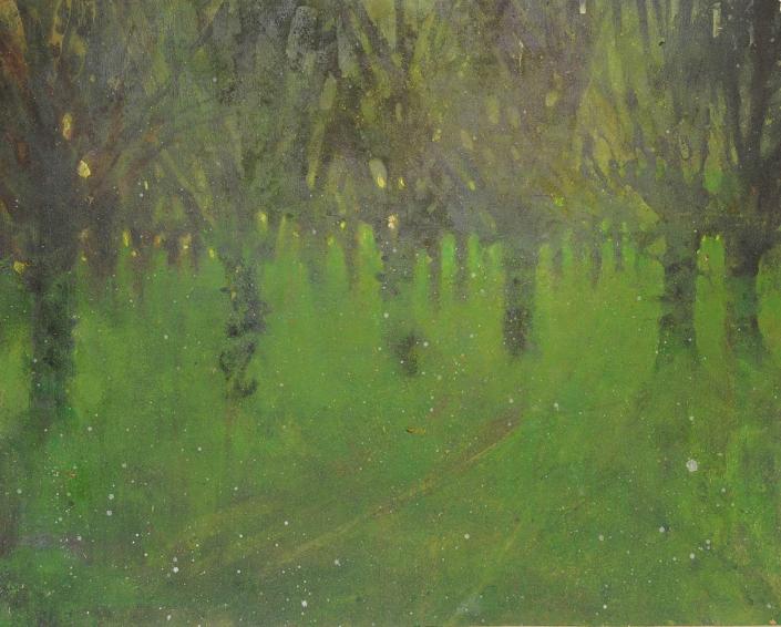 Trognes à Maison Neuve - Acrylique sur bois -73 x 92 cm