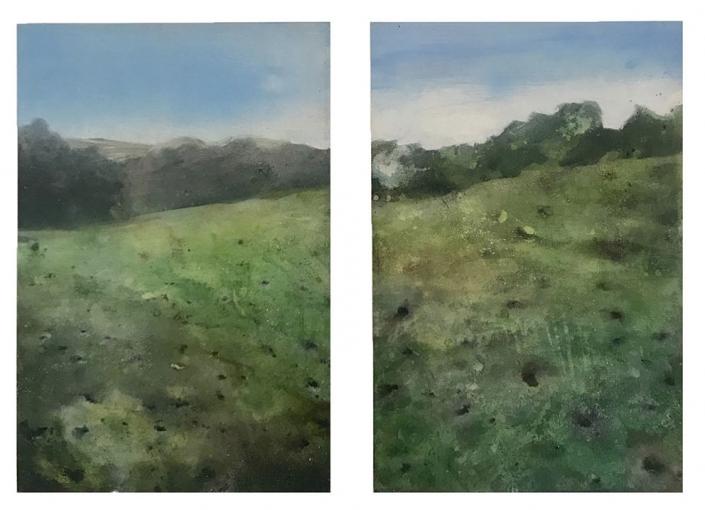 Aveyron - 40 x 60 cm (x2) - Acrylique sur bois