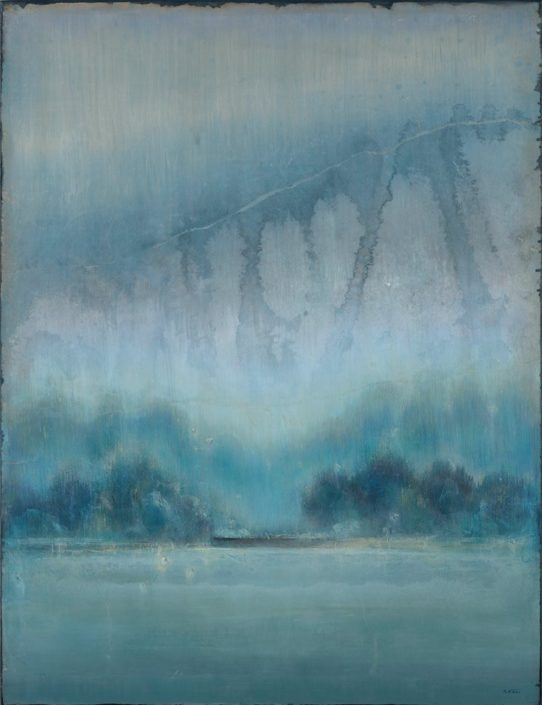 Galerie Felli - R.FERRI - Bassin - 116 x 89 cm - 2016 - Acrylique sur papier marouflé sur toile