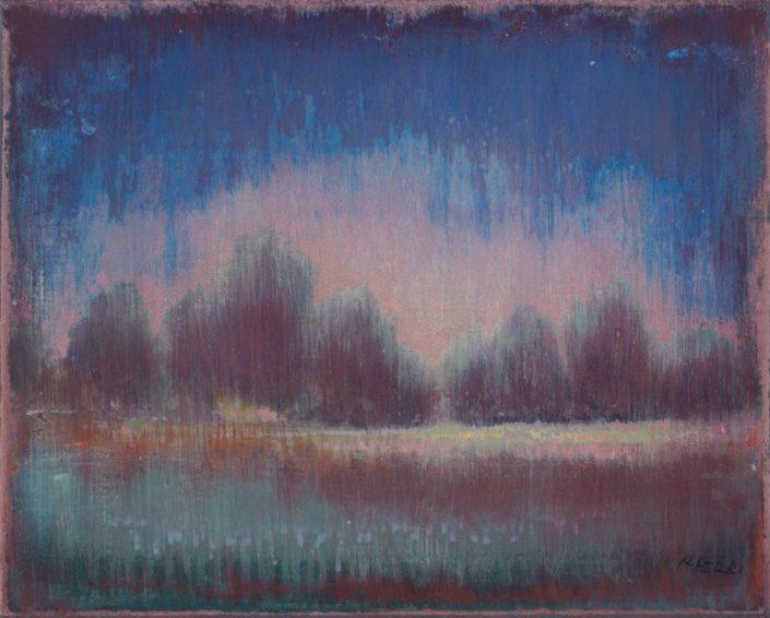 Galerie Felli - R.FERRI - Clairière - 33 x 41 cm - 2016 - Acrylique sur papier marouflé sur toile