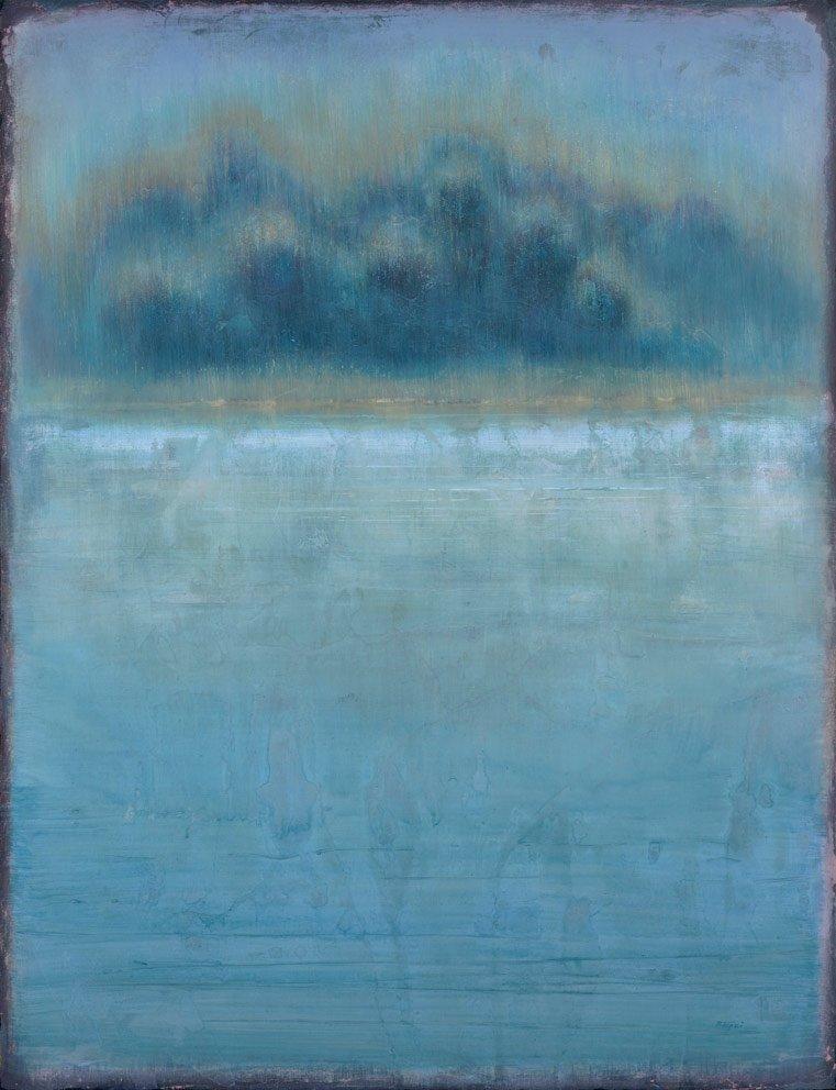 Galerie Felli - R.FERRI - Iles margaux - 116 x 89 cm - 2016 - Acrylique sur papier marouflé sur toile