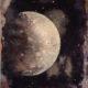 Lunaison 30 x 25 cm - acrylique, pigments et poudre de marbre