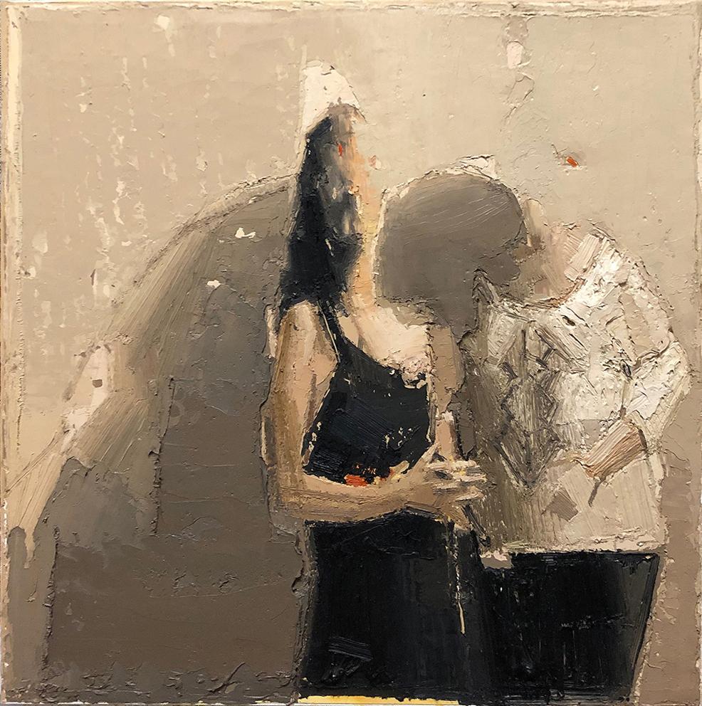 dialogo, 2017, olio su tela, cm. 50x50