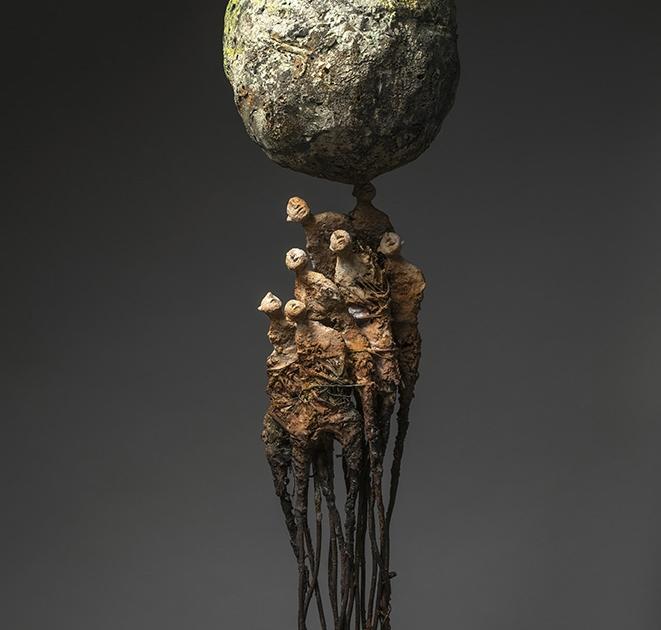 Marc Perez - Dominium - h 199 cm - 2019 - Technique mixte